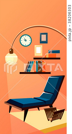 library bookshelves interior 38206303