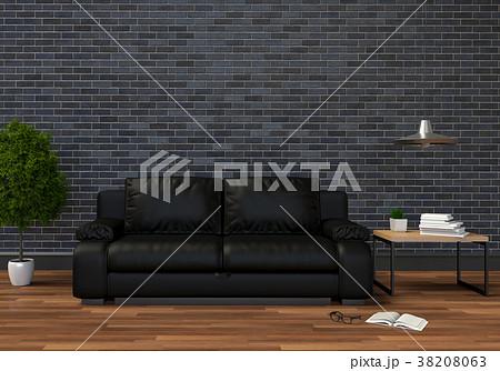3D rendering of interior modern living room  38208063
