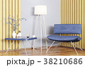 Interior with armchair and coffee table 3d render 38210686