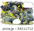 エレクトリックカー 電気式自動車 電気自動車のイラスト 38211712