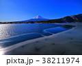 河口湖から凍る湖面の富士山 2018/02/06 38211974