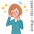 女性 花粉症 花粉のイラスト 38214093