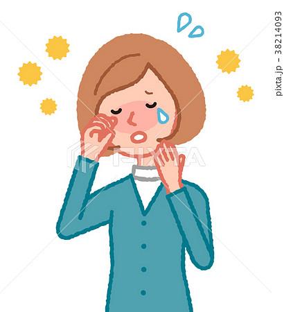 花粉症の女性 38214093