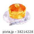 パンケーキ ホットケーキ 食べ物のイラスト 38214228