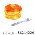 パンケーキ ホットケーキ デザートのイラスト 38214229