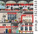 電車 列車 ステーションのイラスト 38214818