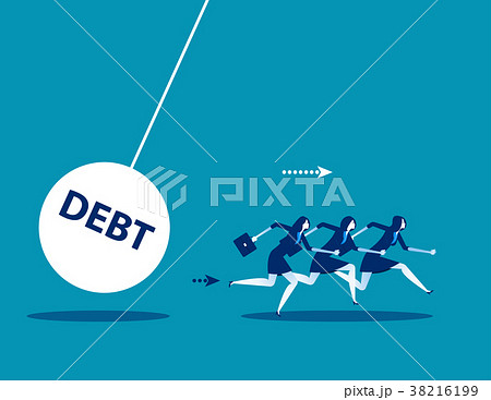 Business team with huge debt bomb.  38216199
