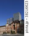 東京駅丸の内口と青空 38216623