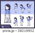 バリエーション 女の子 子供のイラスト 38219952
