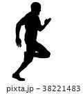 競技場 ランナー 走者のイラスト 38221483