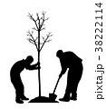 掘る 畑地 植栽のイラスト 38222114