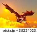 竜 龍 cgのイラスト 38224023