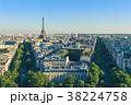 パリ 街並み 夕闇の写真 38224758
