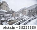 冬の定山渓温泉街 38225380