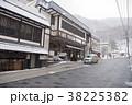 雪降る定山渓温泉街 38225382