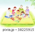 ピクニック 家族 レジャーのイラスト 38225915