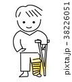 骨折 松葉杖 ギブスのイラスト 38226051