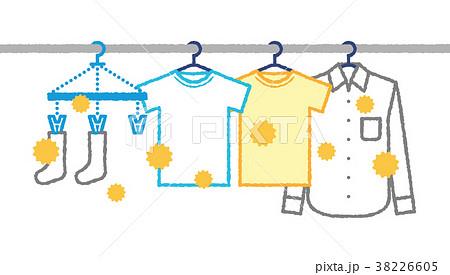 花粉が付いた洗濯物 38226605