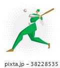 ベースボール 野球 選手のイラスト 38228535