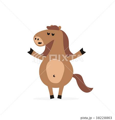 Smiling cartoon horse mascot character. Vector 38228863
