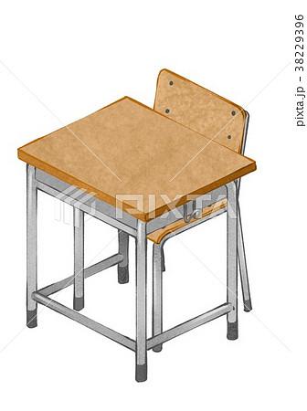 学校机椅子2のイラスト素材 38229396 Pixta