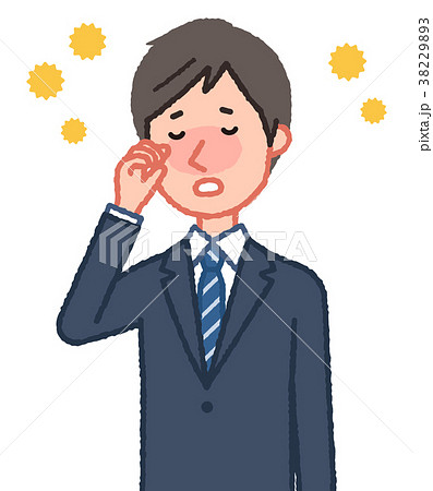 花粉症の男性 38229893