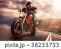 バイカー バイク 山の写真 38233733