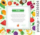 Fresh fruit - modern colorful vector illustration 38236404