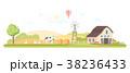 Rural landscape - modern flat design style vector 38236433