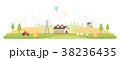 Eco village - modern flat design style vector 38236435