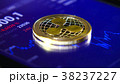Gold coins of the ripple on the background of a 38237227