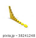 金貨 金融 グラフのイラスト 38241248