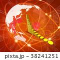 金貨 金融 グラフのイラスト 38241251