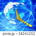 金貨 金融 グラフのイラスト 38241252
