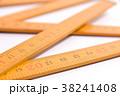 黄色の木製ものさし. 38241408