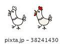 にわとりイラスト 38241430