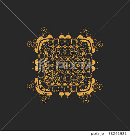 Vector ornamental white background with oriental 38241921