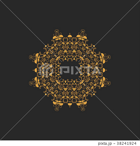 Vector ornamental white background with oriental 38241924