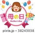 母の日のメッセージラベル素材 38243038