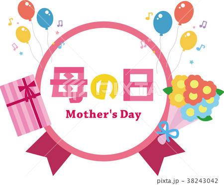 母の日のメッセージラベル素材 38243042