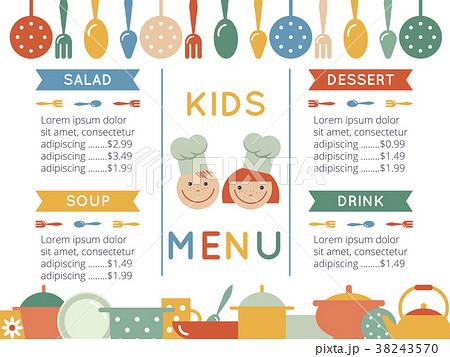 kids menu templateのイラスト素材 38243570 pixta
