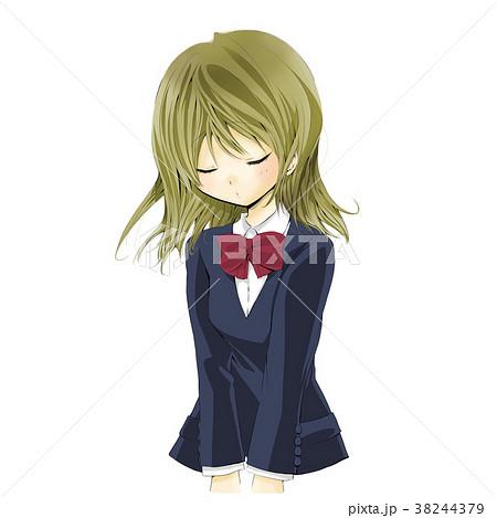 女子高生 イラスト 制服 美少女のイラスト素材 38244379 Pixta