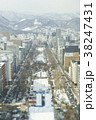 さっぽろテレビ塔からの眺め(雪まつり会場) 38247431