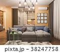 3d Rendering living room interior design. Modern 38247758