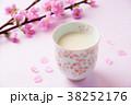 桃の節句 桃 甘酒の写真 38252176