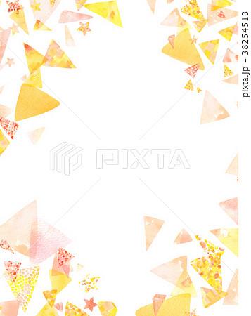 水彩 三角 コラージュ 背景素材  38254513