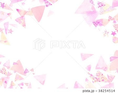 水彩 三角 コラージュ 背景素材  38254514