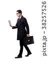 ビジネスマン 実業家 白背景の写真 38257526