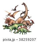 恐竜 ブラキオザウルス ステゴサウルスのイラスト 38259207