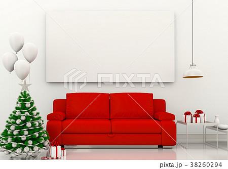mock up poster frame Christmas interior room. 3d r 38260294